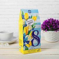 """Чай чёрный 100 г с лимоном и мятой """"8 Марта"""", от всей души"""