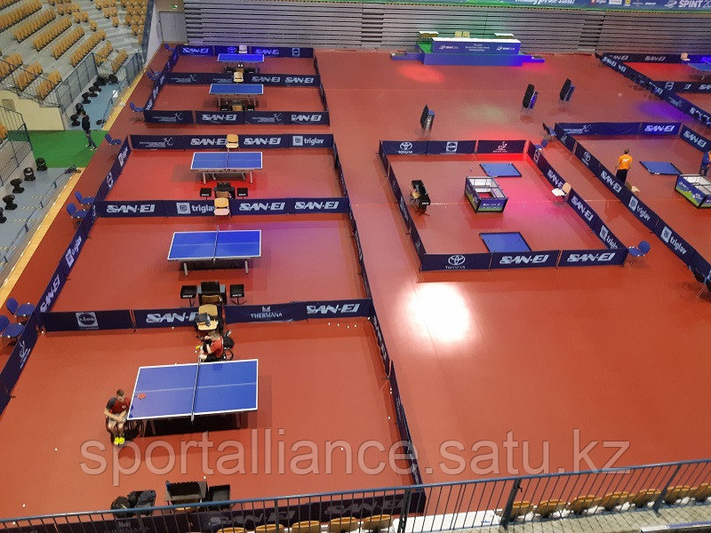 Монтаж спортивного покрытия Taraflex Table Tennis