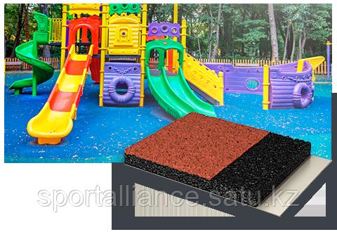 Укладка покрытия для детской площадки