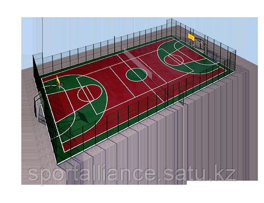 Спортивная площадка для мини футбола под ключ
