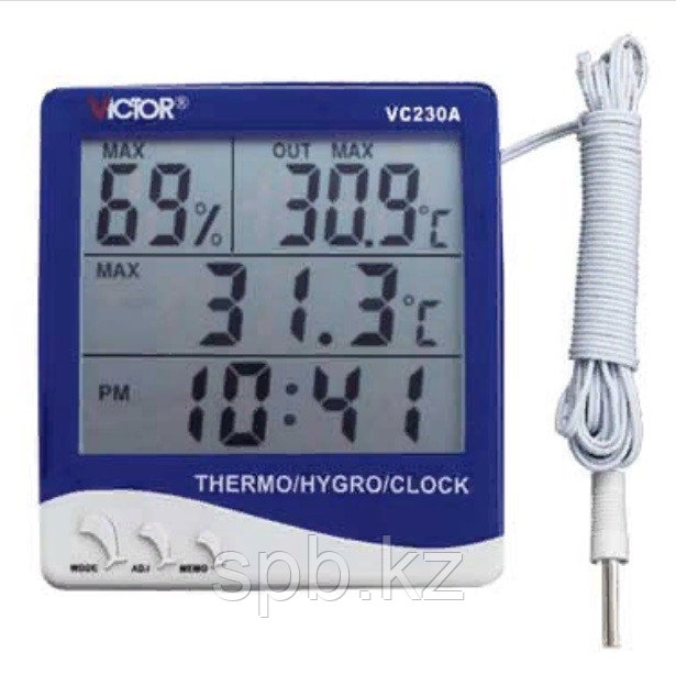 Цифровой термометр с гигрометром VICTOR VC230A