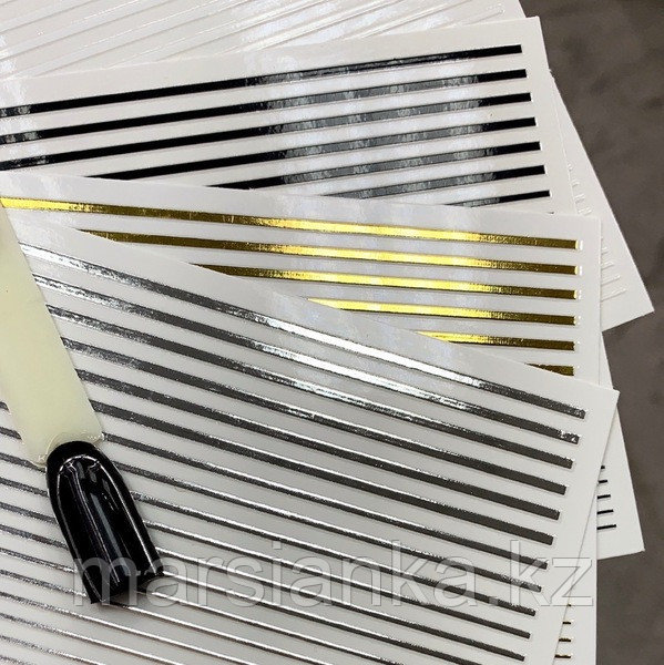 Эластичные полоски для дизайна (черные)