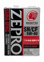 Моторное масло IDEMITSU ZEPRO EURO SPEC 5W-40 4литр