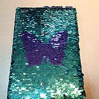 Блокнот с паетками Размеры 14*21 см, фото 1
