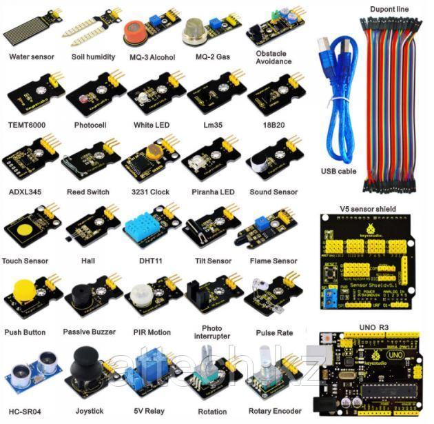 """Обучающий набор Arduino - """"Датчики"""" (с микроконтроллером UNO R3)"""