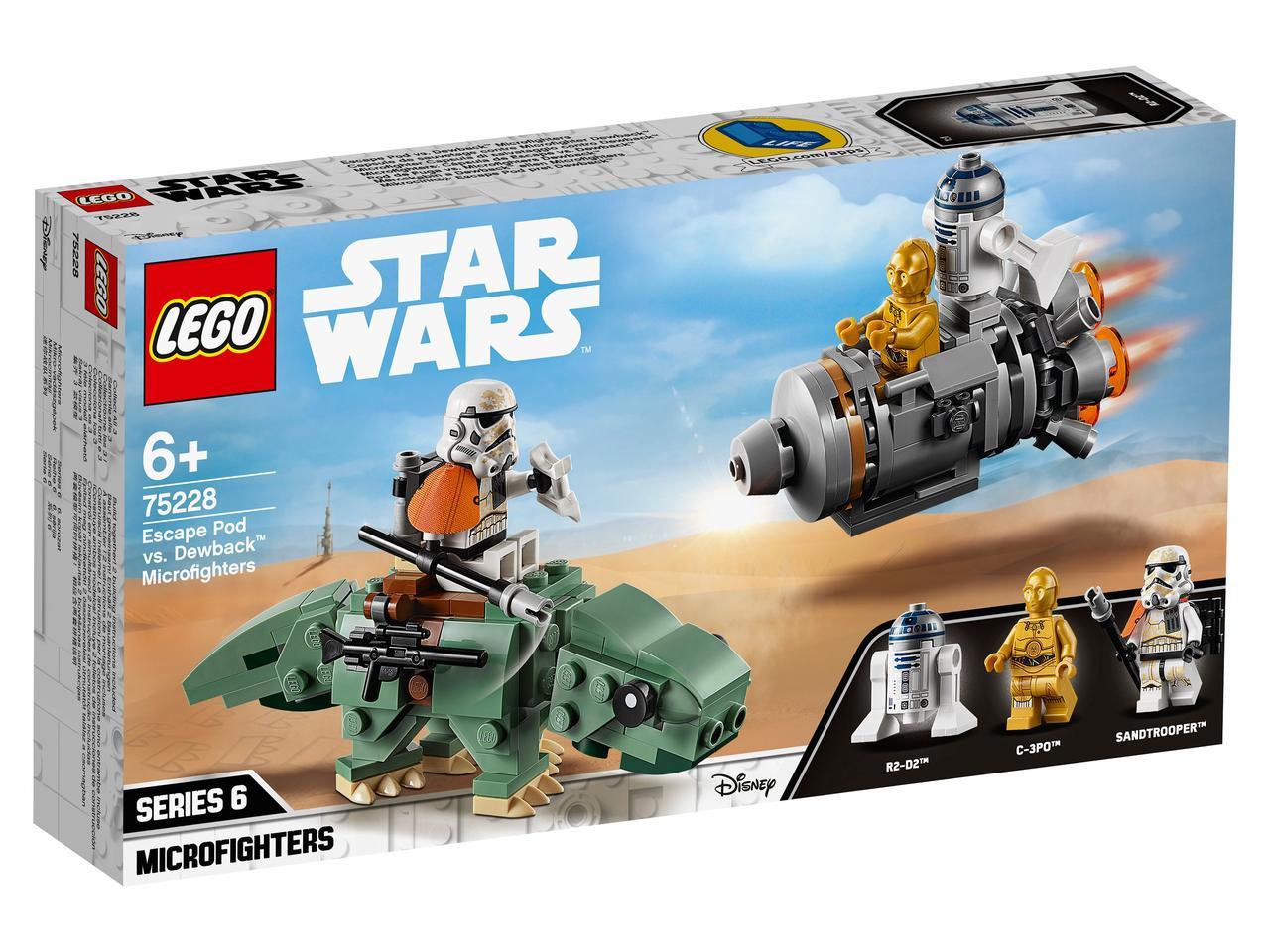 75228 Lego Star Wars Спасательная капсула Микрофайтеры: дьюбэк™, Лего Звездные войны