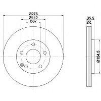 Тормозные диски Mercedes A-Class  A190 W168 (передние, вент., Optimal), фото 1