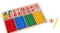 Развивающий набор счетные палочки в деревянной упаковке