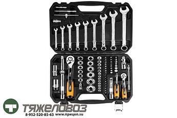 Набор головок с трещотками и комбинированных ключей (82 шт.) 08-672
