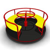 Детская Карусель круговая с рулем Размеры: 1630 x 1630 x 690мм