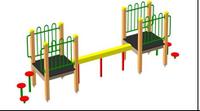 Спортивное оборудование для детей уличное «Бревно» Размеры 5300х1000х1380мм