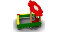 Детская Песочница «Цветок» для улицы Размеры: 1720 x 1720 x 1640мм