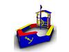 Детская игровая Песочница «Кораблик с рубкой» Размеры: 4010х1925х1810мм