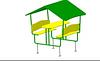 Детский игровой Домик-беседка «Во дворе» Размеры: 2000х1480х1650мм