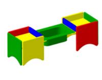 Песочница «С ванночкой» детская игровая  Размеры: 1440 x 440 x 425мм
