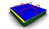 Детская игровая Песочница с крышкой Размеры: 2050х2050х600мм
