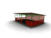 Веранда для детской площадки  Размеры: 5100х4465х2680 мм