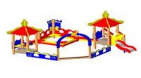 Песочный дворик с горкой «Шахматы» Размеры: 5000х4625х3160мм