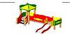 Детский игровой комплекс уличный   Размеры 3160х2190х2730мм
