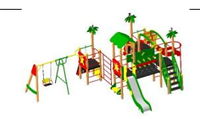 Детский игровой комплекс для улицы  Размеры 9110х6390х3340мм