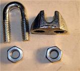 Зажимы винтовые канатные DIN 1142 диаметр каната 8 мм, фото 3
