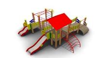Детский Игровой комплекс для улицы Размеры 6540х5955х3030мм