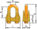 Зажимы винтовые канатные DIN 1142 диаметр каната 34 мм, фото 2
