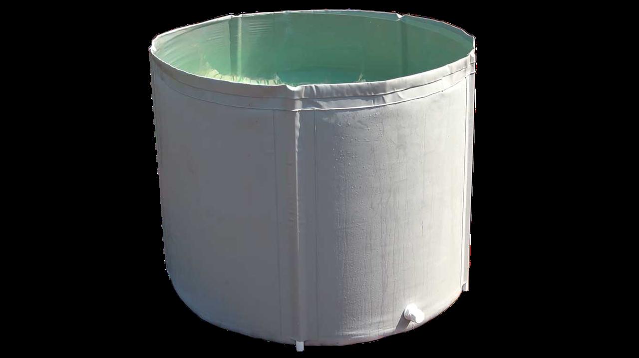 Складная бочка с крышкой 1000 литров Ø 115 см. H-100 см.