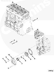 Уплотнение привода вспомогательных агрегатов Cummins ISF 3.8 5266066