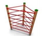 Детское Спортивное оборудование для улицы «Треугольник» Размеры 1205х1205х1995мм