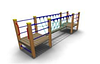 Уличное детское Спортивное оборудование «Мост» Размеры 4010х1005х1605мм