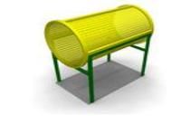 Спортивное уличное  оборудование для детей «Труба» Размеры 660х1010х1200мм