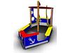 Песочница-беседка для детей «Кораблик» Размеры: 3580 x 1915 x 2155мм