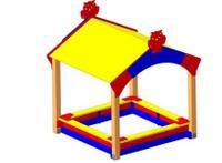 Песочница с навесом для дачи  Размеры: 1885х1845х2270мм