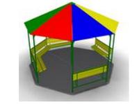 Уличный Домик-беседка «Цирк2» для детей  Размеры: 3740х3740х3008мм
