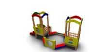 Песочный дворик для детей игровой Размеры: 5160х2330х2570мм