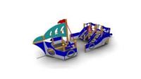 Детский Игровой комплекс для улицы Размеры 7365х2565х2705мм