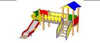 Детский Игровой комплекс для улицы Размеры 3535х2910х2910мм