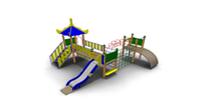Детский Игровой комплекс для улицы Размеры 5730х5140х3480мм