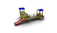 Детский Игровой комплекс для улицы Размеры 7055х3990х2815мм