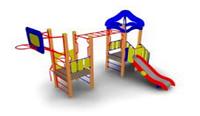 Детский Игровой комплекс для улицы Размеры 5545х3500х3500мм