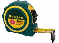 """Рулетка KRAFTOOL """"EXPERT"""" """"GRAND"""", двухкомпонентный корпус, двусторонняя шкала, нейлоновое покрытие, 8мх25мм"""