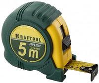 """Рулетка KRAFTOOL """"EXPERT"""" с нейлоновым покрытием, обрезин корпус, 5/19мм"""