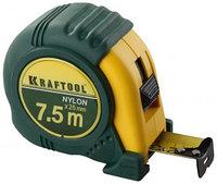 """Рулетка KRAFTOOL """"EXPERT"""" с нейлоновым покрытием, 7,5м/25мм"""