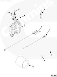 Датчик уровня оксида азота с блоком Cummins ISBe E-4 4326863 4326471 4307260