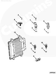 Модуль (блок) управления Cummins ISF 2,8L 5258888