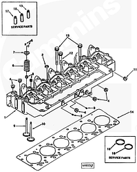 Втулка направляющая клапана Cummins 4BT-6BT 3904408