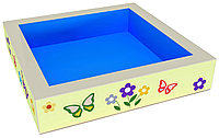 Сухой бассейн квадратный с  аппликацией 100*100см. Н50см. S15 см.(без шаров)