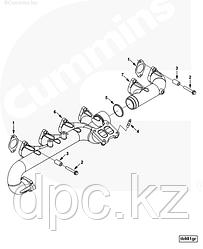 Прокладка выпускного коллектора Cummins ISLe 5269779 3937479 3943191