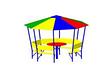 Домик-беседка «Арена» для дачи  Размеры: 3020 x 3020 x 2215мм